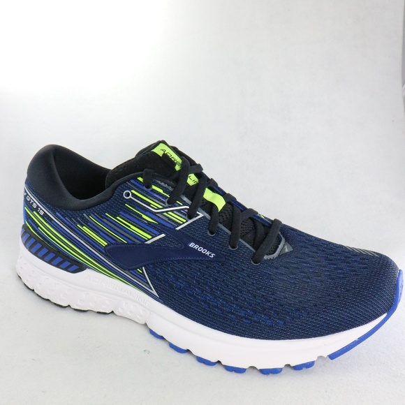 dce1767c112 Brooks Adrenaline GTS 19 Black Blue Night Shoes